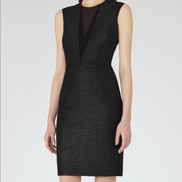 Reiss Dresses Nwt Ally Textured Black Dress Poshmark